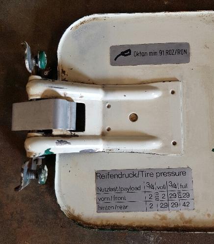 VW Split Screen Fuel Door