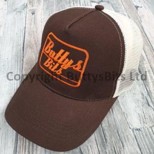Brown with Orange Logo Truckers Cap