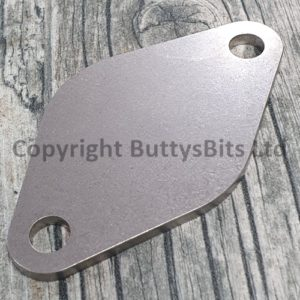 BB-318 Porsche 356 / 912 Fuel pump blanking plate (Stainless Steel)